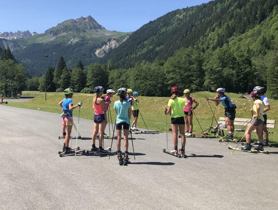 Cours de ski roue
